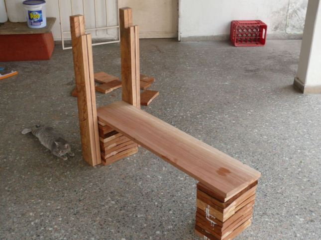 wood bench press plans